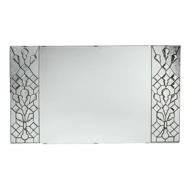 Opulent Hollywood Regency Mirror With Large Cut Crystals, 1940's For Sale - Image 12 of 12