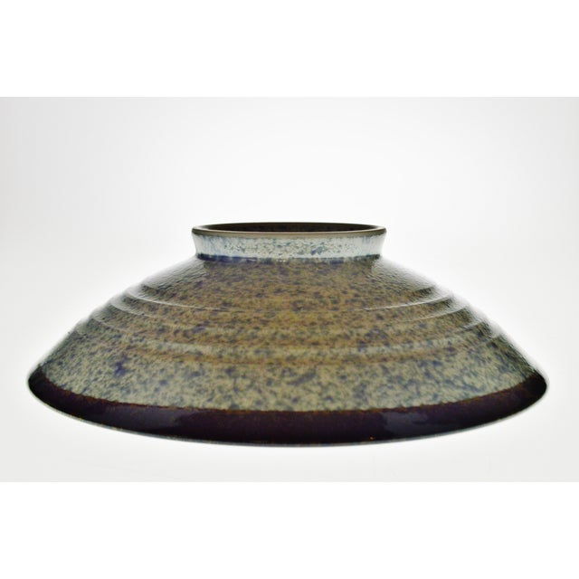 Vintage Japanese Blue Wave Pattern Ceramic Bowl - Image 5 of 11