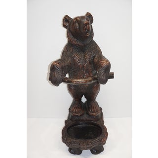 Late 20th Century Black Forest Style Bear Umbrella Stand Preview