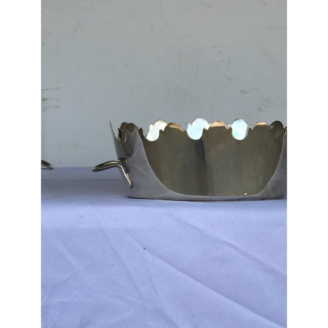 Hollywood Regency Silver Plate Monteith Baskets - a Pair For Sale - Image 3 of 5