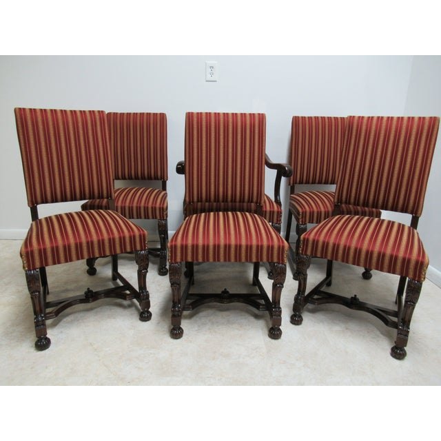 Antique Berkey Gay French Empire Walnut Dining Room Arm Chairs
