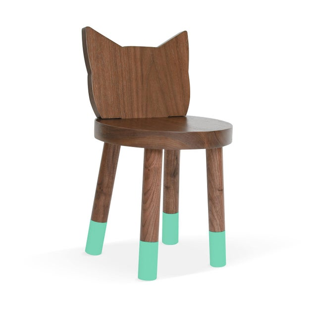 Kitty Kids Chair - Set of 2 - , Solid Walnut . Kitty mixes classic simple design with an animal inspired twist from ears...