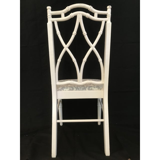 Chinoiserie Vintage Thomasville Faux Bamboo Chinoiserie Hollywood Regency Chairs - Set of 8 For Sale - Image 3 of 7