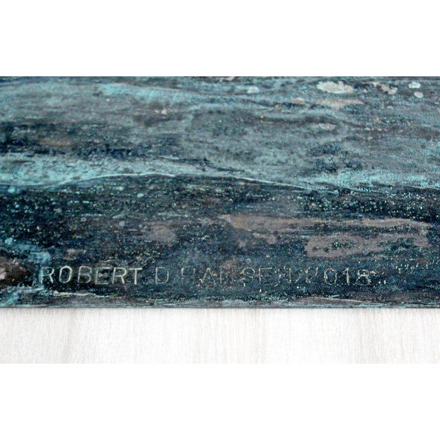 Coffee Contemporary Forged Painted Copper Metal Abstract Table Sculpture Robert Hansen For Sale - Image 8 of 9