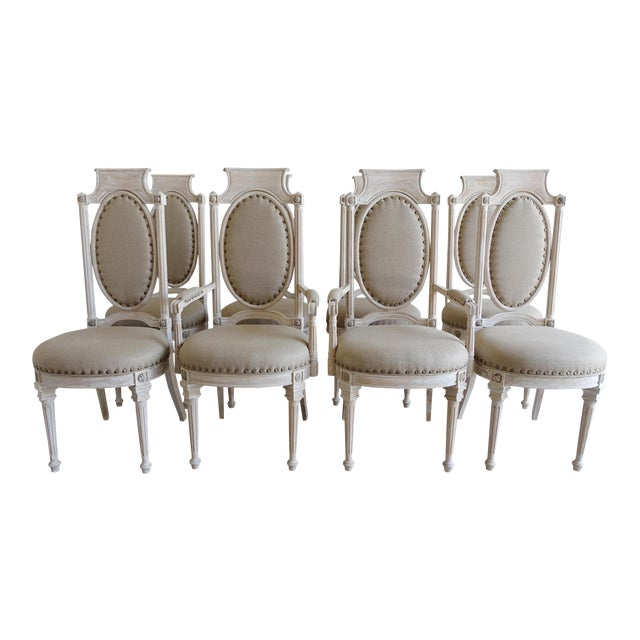 Italian Style Dining Chairs - Set of 8 - Image 1 of 10