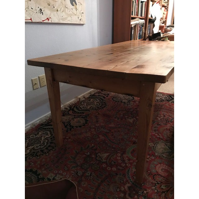 Early 20th Century Antique Pine Farm French Table For Sale - Image 5 of 13