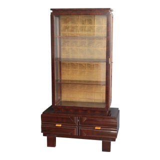 1930s Art Deco Display Cabinet by Károly Lingel For Sale