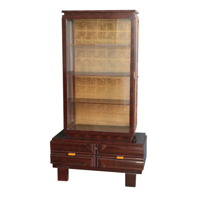Art Deco Display Cabinet by Károly Lingel For Sale