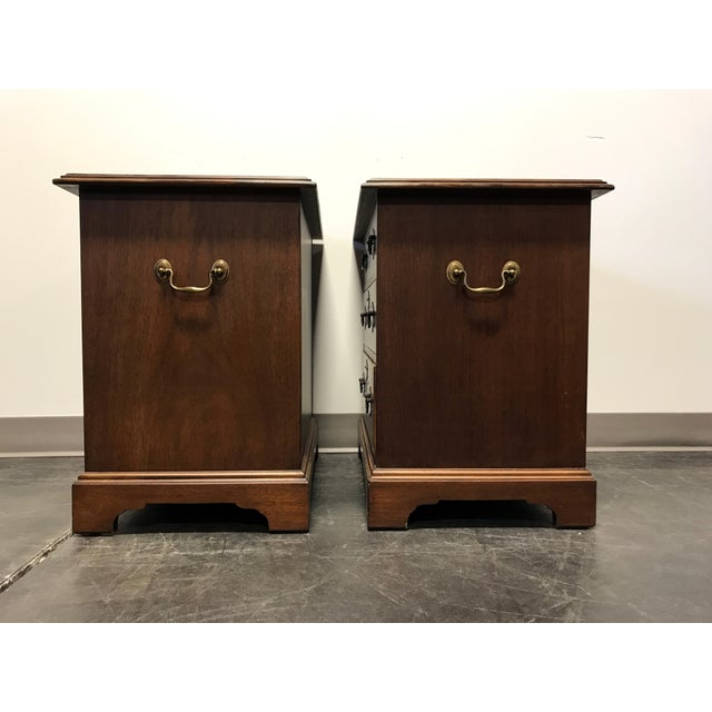 Mahogany Chippendale Bedside / Chairside Chests - Pair - Image 8 of 11