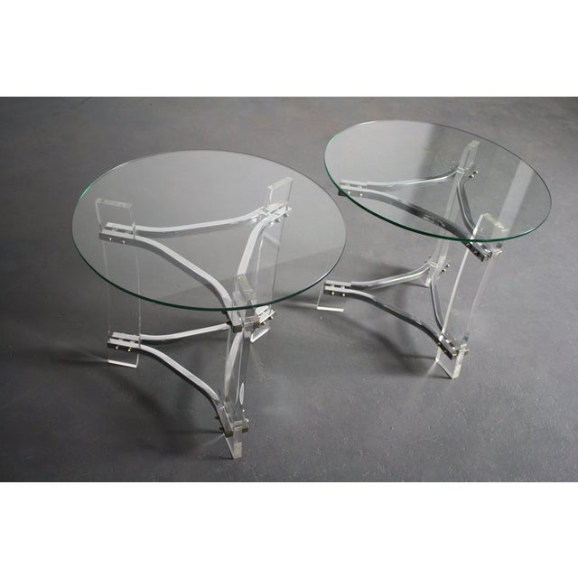 Transparent Charles Hollis Jones Lucite End Tables - Pair For Sale - Image 8 of 8