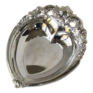 Godinger Silverplate Heart Serving Bowl For Sale