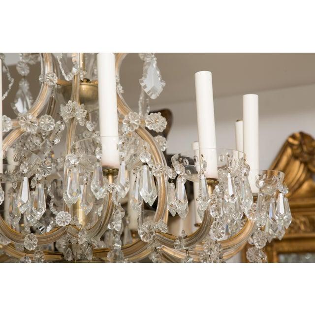 Gold Vintage Maria Theresa Twelve-Light Chandelier For Sale - Image 8 of 11
