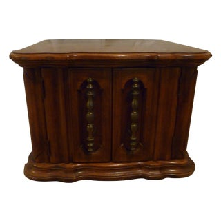 1970s Tavern Game Mid Century Modern Drum Side Table Nightstand Bahama Island Estate Look Storage For Sale
