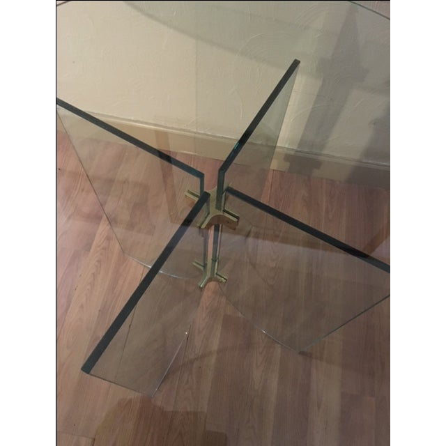 Pace Pedestal Glass Dining Table, Circa 1970 - Image 3 of 5