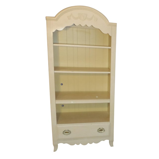 Two Tone Carved and Painted Entertainment Center - Image 1 of 6