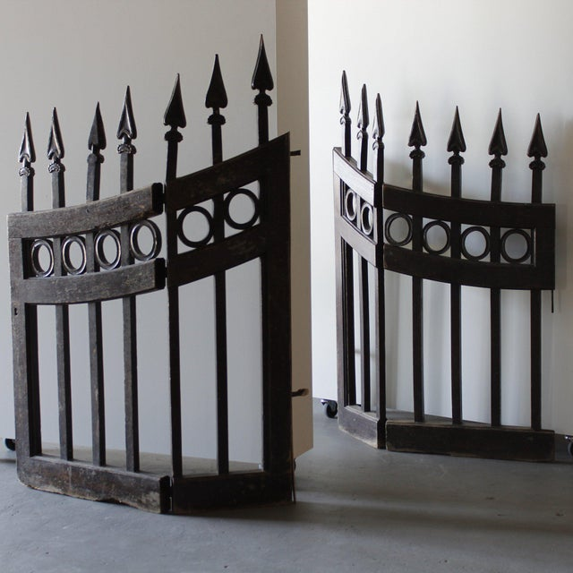 Mid 18th Century Wood Stable Gates - A Pair For Sale In West Palm - Image 6 of 6