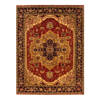 Apadana - Contemporary Red and Brown Indian Serapi-Style Carpet, 9.01x12