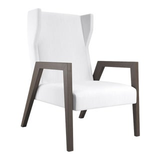 Mariposa Wingback Chair - Smoked Wood Oak For Sale