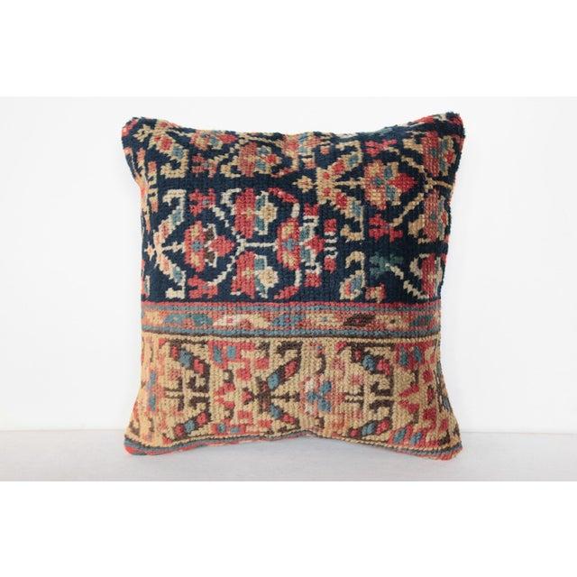 Textile Antique Caucasian Rug Pillow For Sale - Image 7 of 9