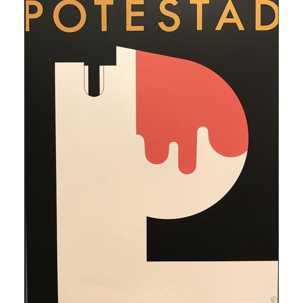 Art Deco 1980s Original Canadian Theatre Poster - Potestad (Tarragon Extraspace) For Sale - Image 3 of 3
