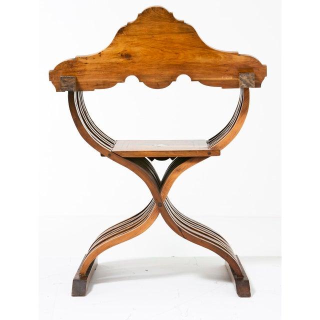 Wood 19th Century Savonarola Chairs - a Pair For Sale - Image 7 of 10