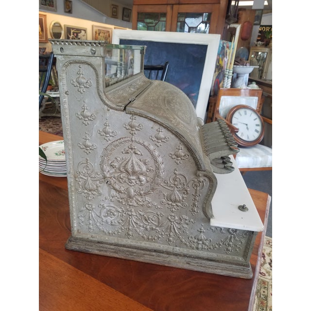19th Century Neoclassical Iron Cash Register For Sale In New York - Image 6 of 9