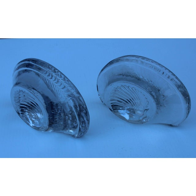 Mid-Century Modern Blenko Glass Shell Bookends For Sale - Image 3 of 7