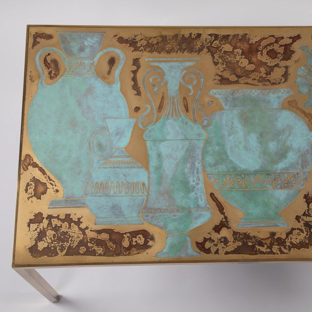 Harvey Probber Rare Harvey Probber Acid-Etched and Patinated Bronze Sofa Table, Circa 1960s For Sale - Image 4 of 13