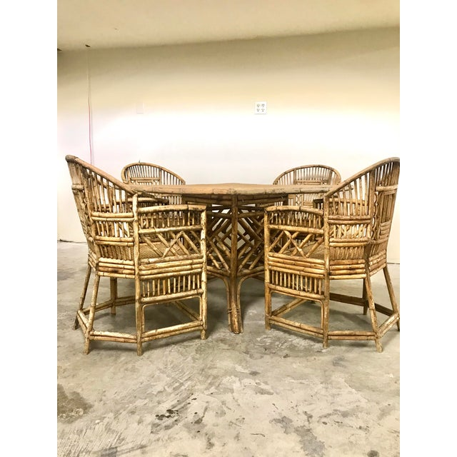 Brighton Pavilion All-Cane Table Top Dining Set - 5 Pieces For Sale - Image 13 of 13