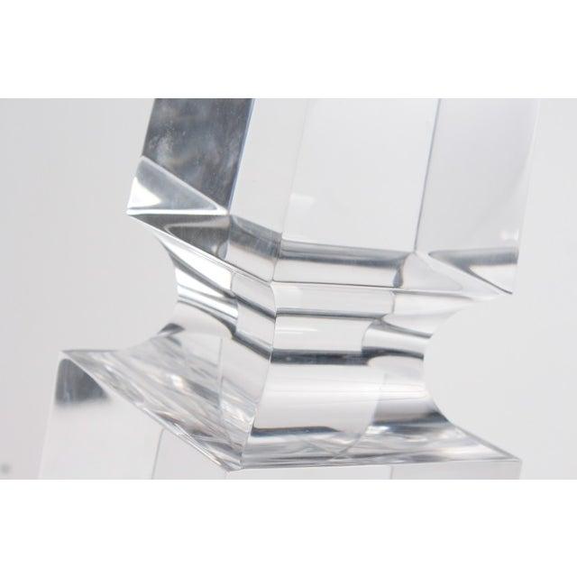 MCM Hollis Jones Style Lucite Obelisks - a Pair - Image 3 of 5