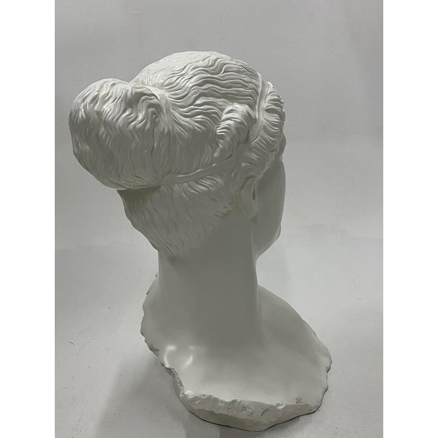 Plastic Romantic Fiberglass Bust of Diana, Sculpture For Sale - Image 7 of 13