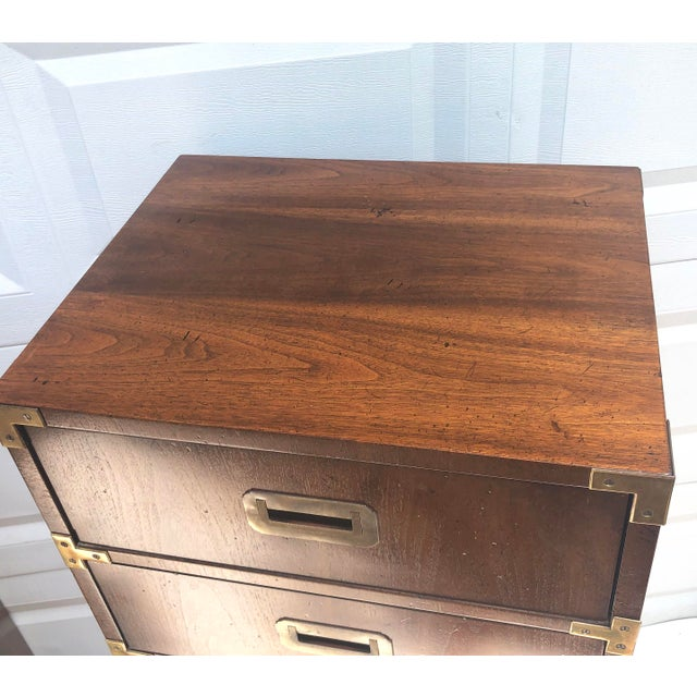 Pair Campaign Style Lingerie Dressers by Henredon For Sale In New York - Image 6 of 13