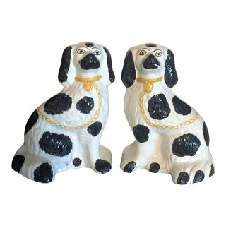 Large Pair Staffordshire Dog Statues - a Pair For Sale