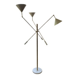 Italian Three Arm Arredoluce Style Floor Lamp For Sale