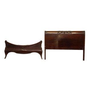 Carved Wooden Bed Frame