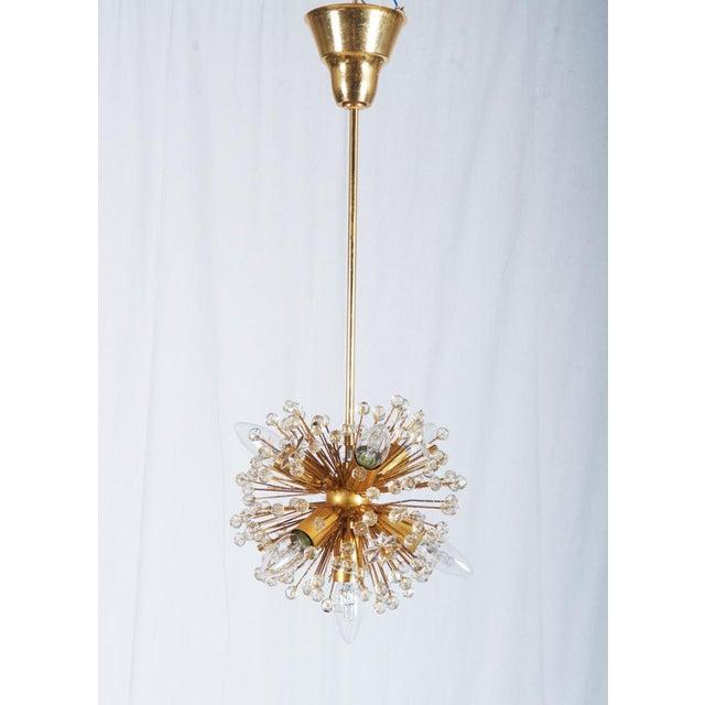 Gilded Sputnik Chandelier, 1972 For Sale - Image 11 of 11