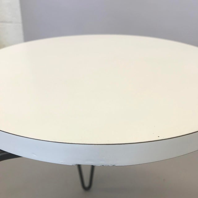 Knoll Florence Knoll Hairpin Stool or Side Table With White Laminate Top For Sale - Image 4 of 6