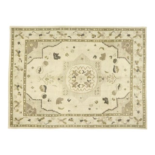 Contemporary Turkish Oushak Rug With Modern Shaker Style - 09'00 X 12'01 For Sale