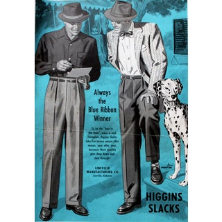 Higgins Slacks Giclee Print of Illustration For Sale
