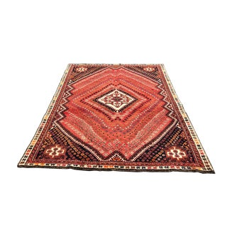 1960s Vintage Persian Rug - 5′4″ × 8′ For Sale