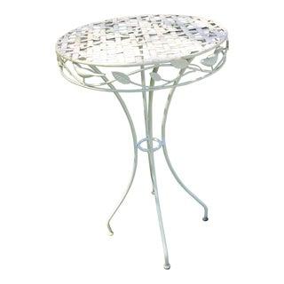Mid-20th Century Russell Woodard Style Wrought Iron Bird Table