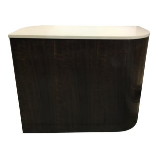 Caracole Modern Zephyr Wood and Stone Side Table For Sale