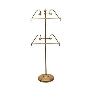 Vintage Brass Valet Men's Suit Stand For Sale