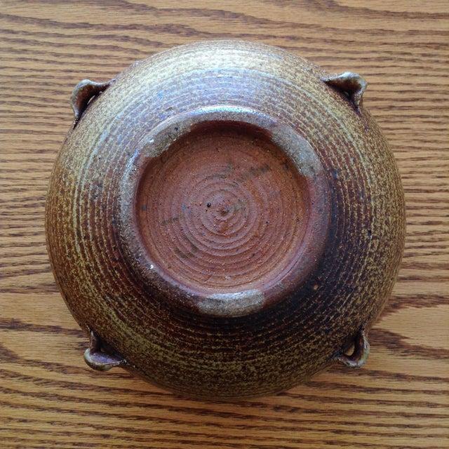 Brown Vintage 1960s Ceramic Vessel For Sale - Image 8 of 9