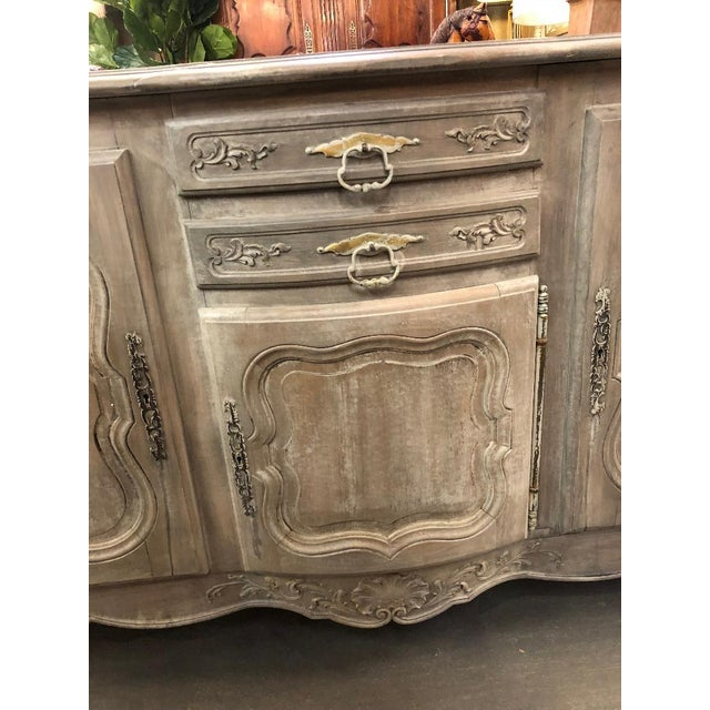 19th Century French Louis XV Graphite Washed Enfilade For Sale In Atlanta - Image 6 of 8