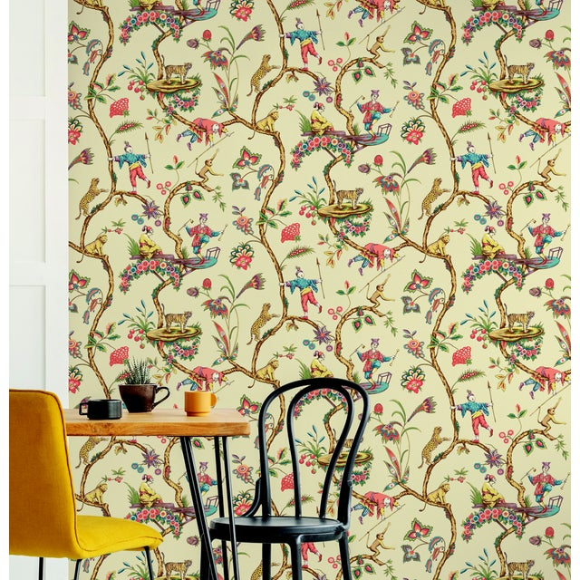 Peel & Stick vinyl wallcovering. 6 yd, 30.75 square feet. Originally based on an early 18th century French document,...