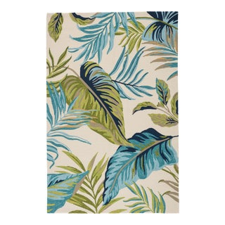 "Jaipur Living Fraise Indoor Outdoor Floral Blue Green Area Rug 5'X7'6"" For Sale"