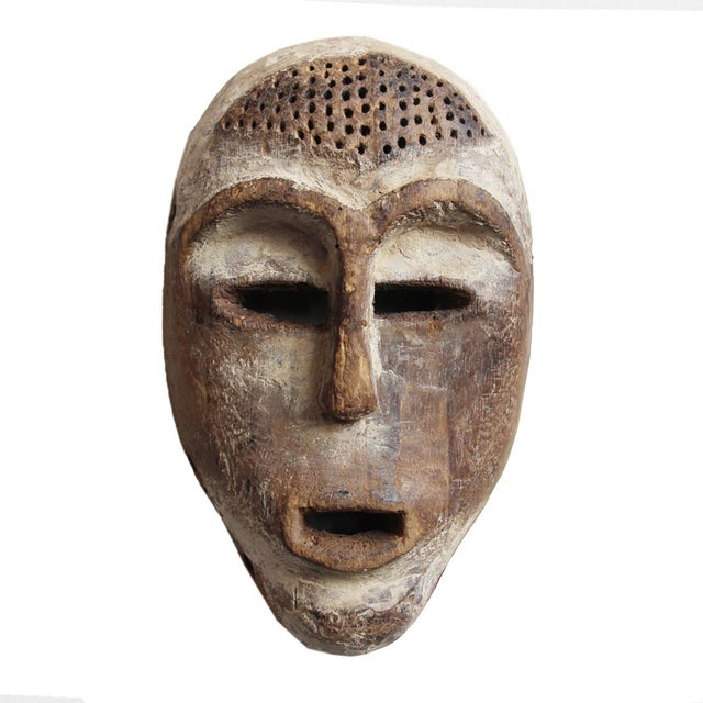 Carved Wooden Lega Origal Mask - Image 1 of 3