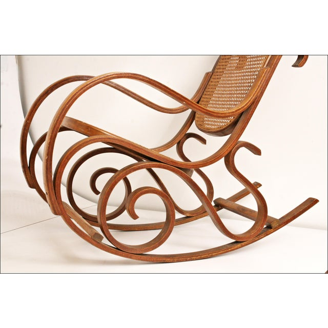 Vintage Thonet-Style Bentwood Cane Rocking Chair - Image 11 of 11