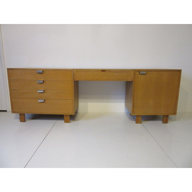 George Nelson for Herman Miller Oak 3 Pc. Vanity Chest Set For Sale - Image 12 of 13